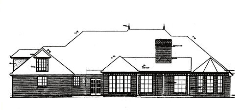 Rear Elevation Plan: 8-420