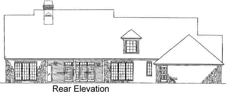 Rear Elevation Plan: 8-421