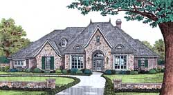 European Style Home Design Plan: 8-423