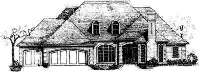 European Style House Plans Plan: 8-425