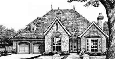 Traditional Style Home Design Plan: 8-437