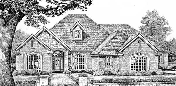 Traditional Style Home Design Plan: 8-440