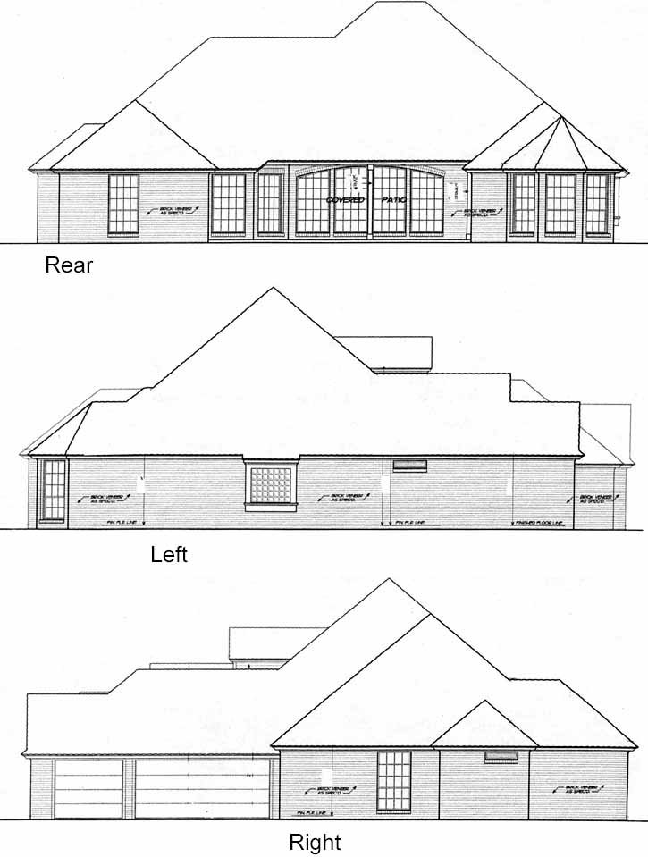 Rear Elevation Plan: 8-440