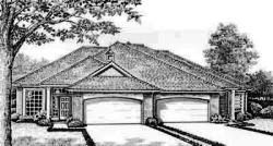Traditional Style Home Design Plan: 8-443