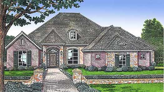 Traditional Style Floor Plans Plan: 8-444