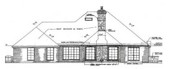Rear Elevation Plan: 8-444
