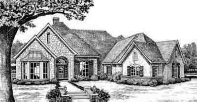 Traditional Style Home Design Plan: 8-445