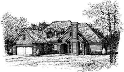 Traditional Style Home Design Plan: 8-446
