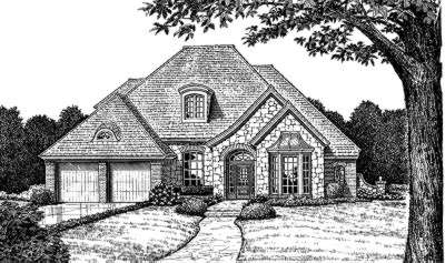 French-country Style Floor Plans Plan: 8-447