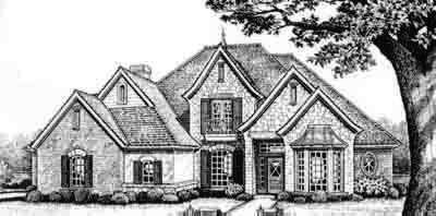 European Style Home Design Plan: 8-448