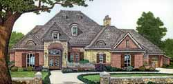 French-Country Style House Plans Plan: 8-453
