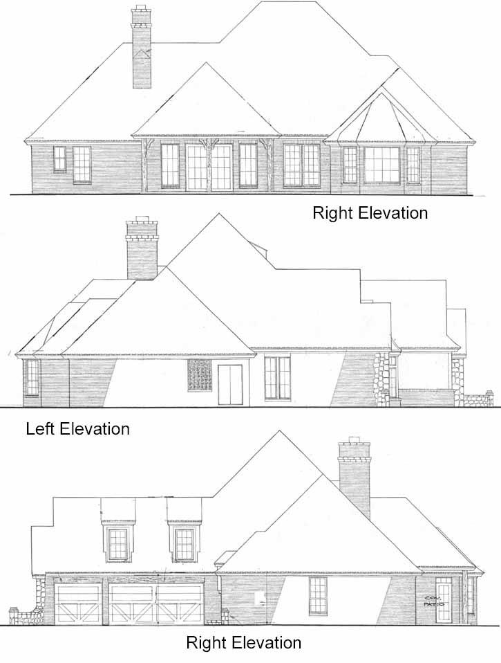 Rear Elevation Plan: 8-455