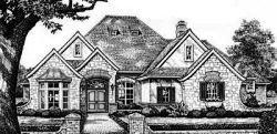 European Style Home Design Plan: 8-455