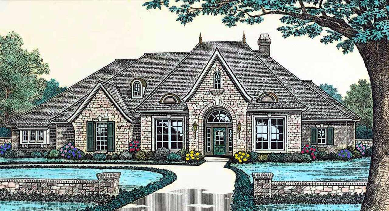 French-country Style House Plans Plan: 8-457