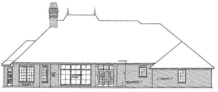 Rear Elevation Plan: 8-457