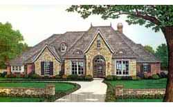 French-Country Style House Plans 8-457
