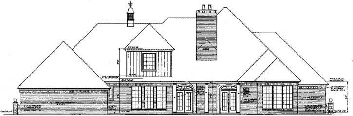 Rear Elevation Plan: 8-459