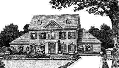Early-american Style House Plans Plan: 8-460