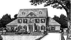 Early-American Style Home Design Plan: 8-460