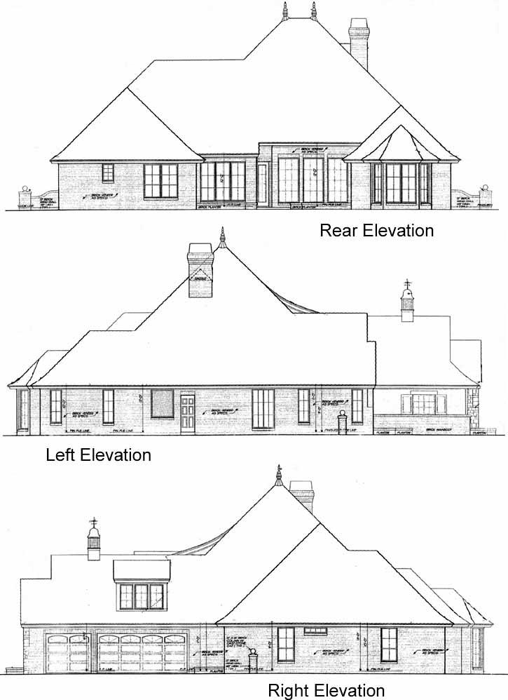 Rear Elevation Plan: 8-465