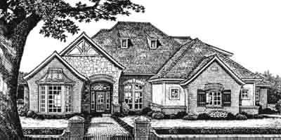 French-country Style House Plans Plan: 8-473
