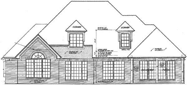 Rear Elevation Plan: 8-474