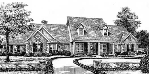 Country Style Home Design Plan: 8-478