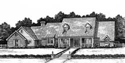 Country Style House Plans Plan: 8-479