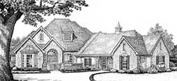 French-Country Style Home Design Plan: 8-480