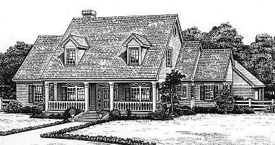 Country Style Home Design Plan: 8-483
