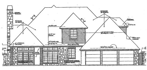 Rear Elevation Plan: 8-484