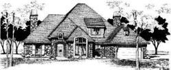 French-Country Style House Plans Plan: 8-485