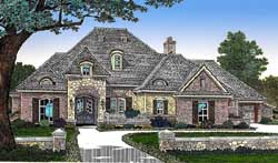 French-Country Style House Plans Plan: 8-489