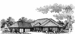 Ranch Style House Plans Plan: 8-491