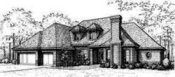 Traditional Style Home Design Plan: 8-492