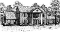 Georgian Style Home Design Plan: 8-498