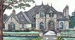 European Style House Plans Plan: 8-501