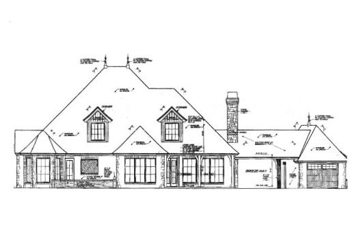 Rear Elevation Plan: 8-509