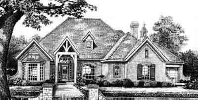 European Style House Plans Plan: 8-511