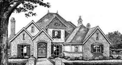 Traditional Style Home Design Plan: 8-515