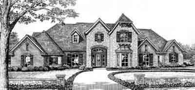 Traditional Style Home Design Plan: 8-516