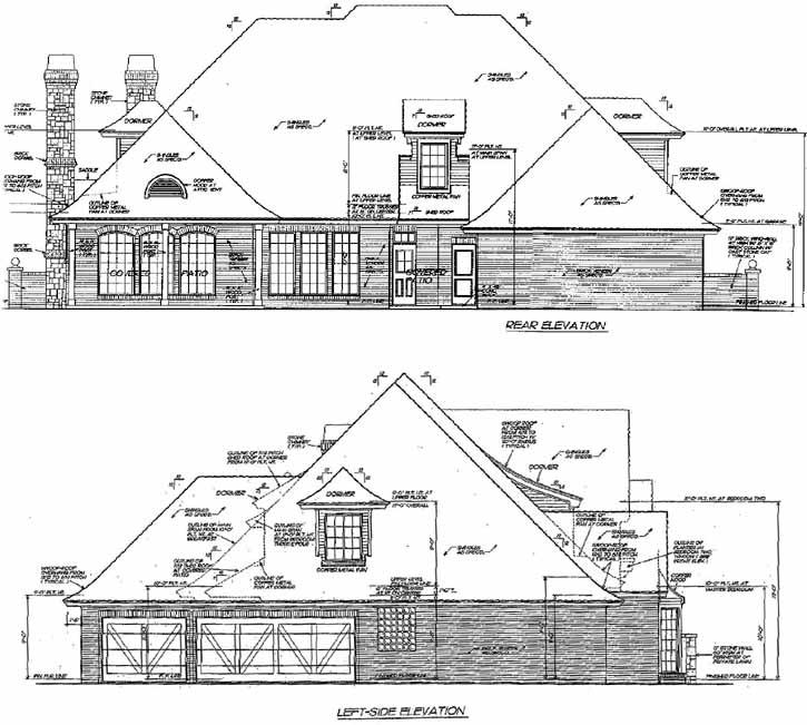 Rear Elevation Plan: 8-519