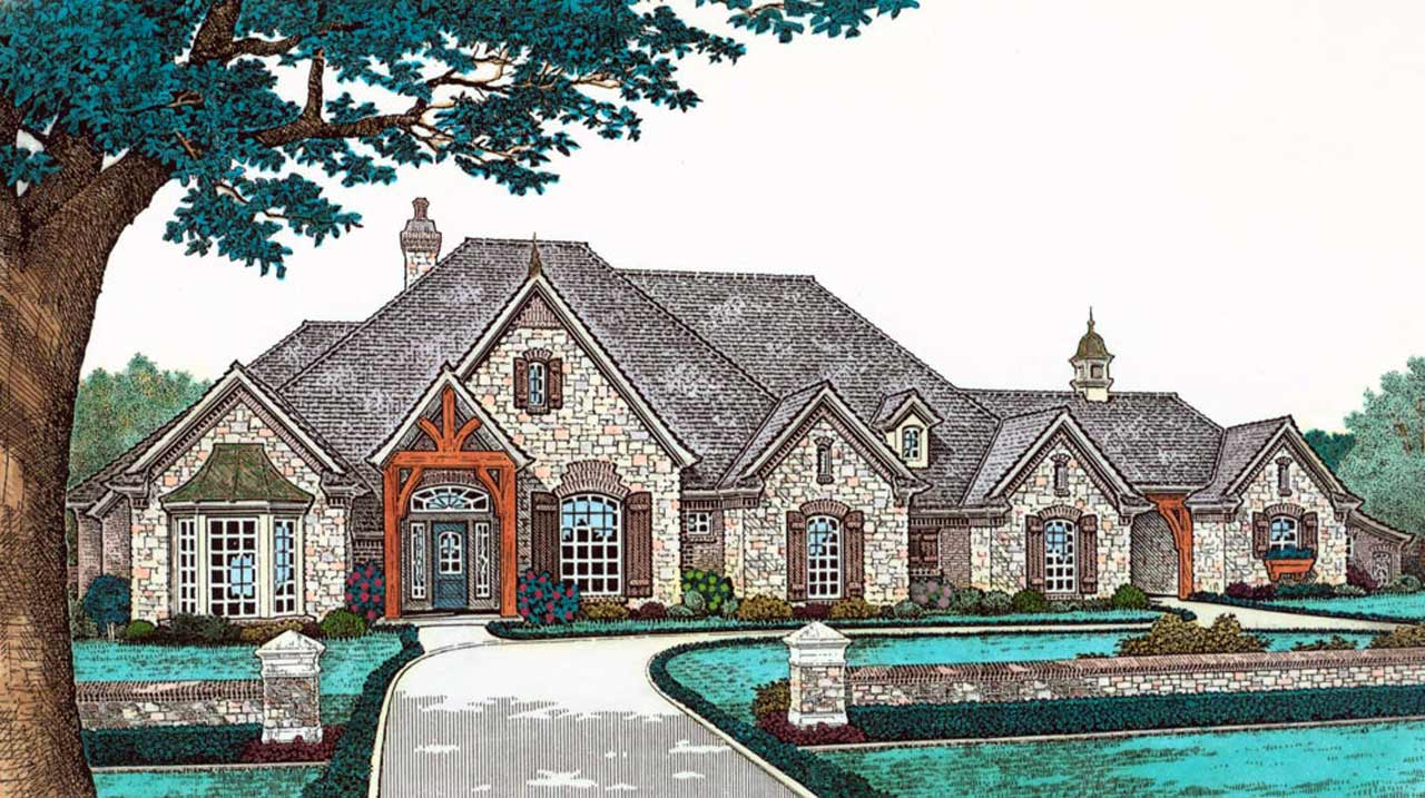French-country Style House Plans Plan: 8-523
