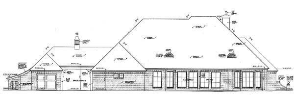 Rear Elevation Plan: 8-523