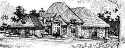 French-country Style Home Design Plan: 8-535