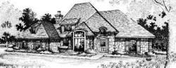 French-Country Style House Plans Plan: 8-535