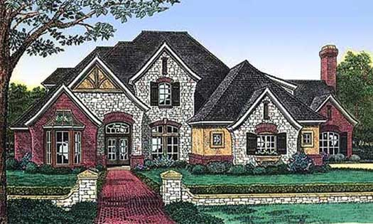 English-country Style House Plans Plan: 8-536