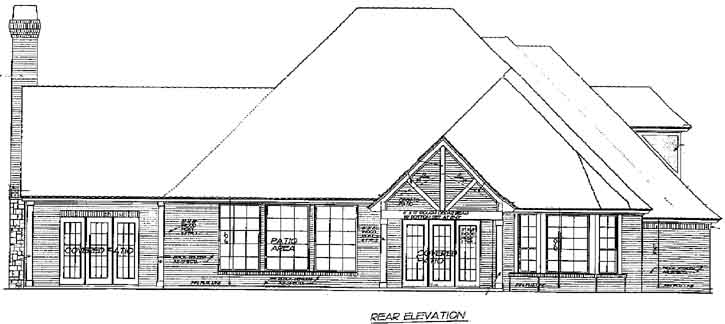 Rear Elevation Plan: 8-536
