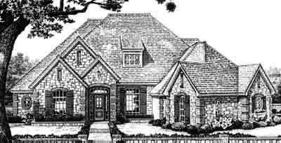 Traditional Style Home Design Plan: 8-537