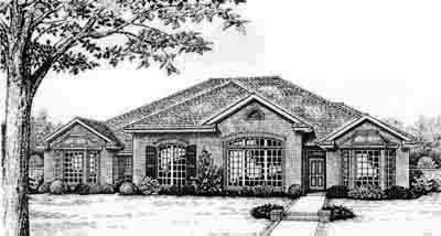 Traditional Style Home Design Plan: 8-538